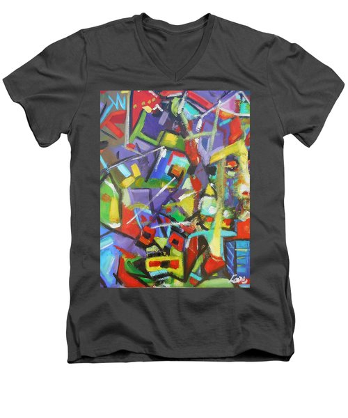 Stained Glass Men's V-Neck T-Shirt