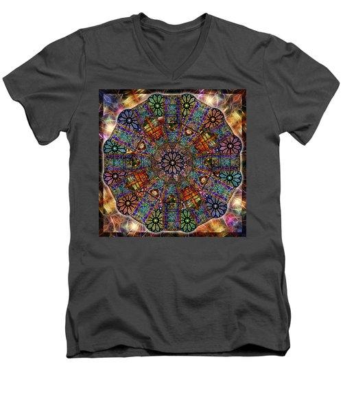 Stained Glass Mandala Men's V-Neck T-Shirt