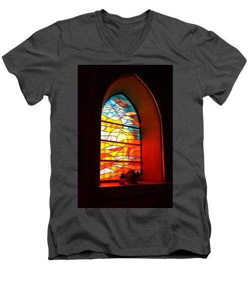 Stained Glass Window Men's V-Neck T-Shirt