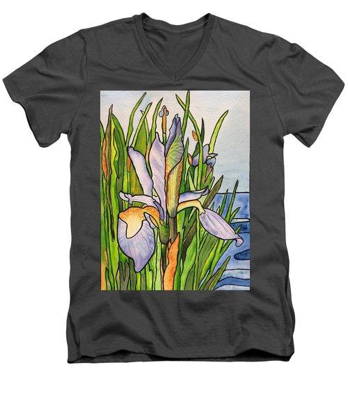Stained Iris Men's V-Neck T-Shirt