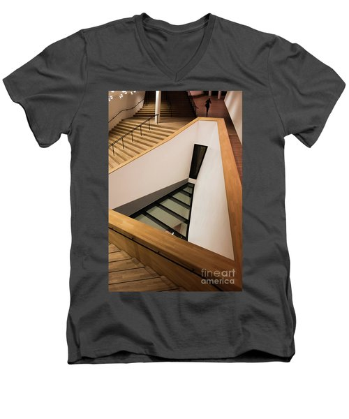 Staircase In Elbphiharmonic Men's V-Neck T-Shirt