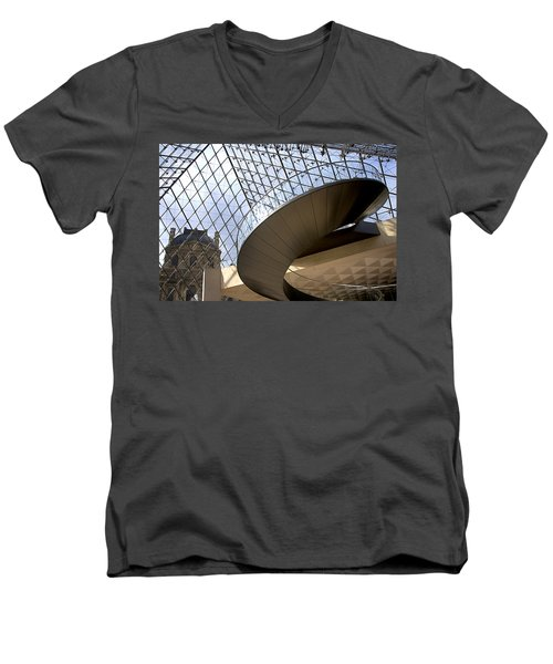 Stairs In Louvre Museum. Paris.  Men's V-Neck T-Shirt