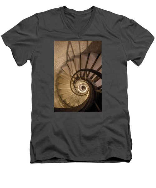 Stairs To The Paris Pantheon Crypts Men's V-Neck T-Shirt by Jean Haynes