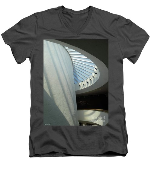Stairway Abstract Men's V-Neck T-Shirt by Lyric Lucas
