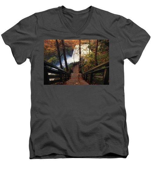 Stairway To Brandywine Men's V-Neck T-Shirt by Rob Blair
