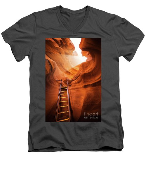 Stairway To Heaven Men's V-Neck T-Shirt by JR Photography