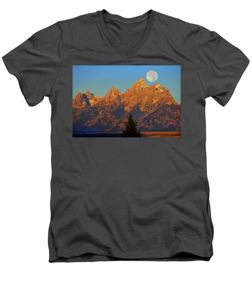 Stairway To The Moon Men's V-Neck T-Shirt