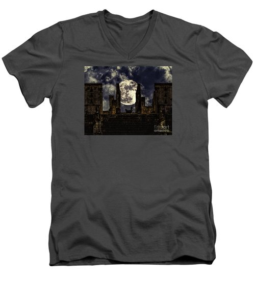 Stairway To The Moon Men's V-Neck T-Shirt by Ken Frischkorn