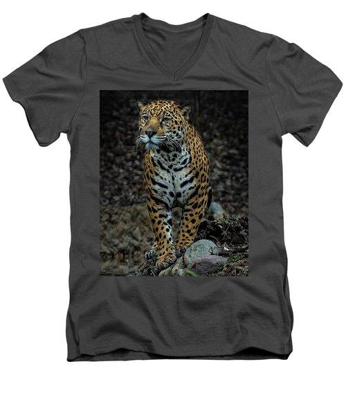 Stalking Men's V-Neck T-Shirt by Phil Abrams