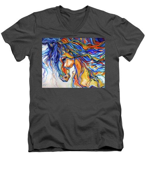 Stallion Southwest By M Baldwin Men's V-Neck T-Shirt