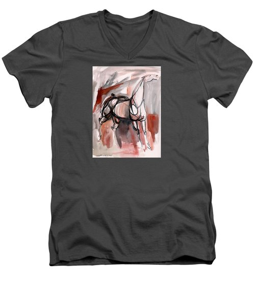 Stand Alone Men's V-Neck T-Shirt by Mary Armstrong