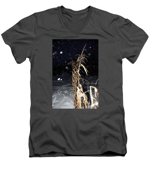 Stand Tall Men's V-Neck T-Shirt by Annette Berglund