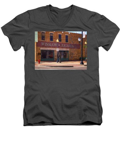 Standin On A Corner Men's V-Neck T-Shirt