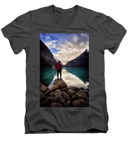 Standing Alone Men's V-Neck T-Shirt by Nicki Frates