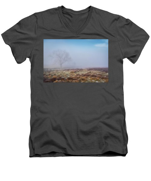 Men's V-Neck T-Shirt featuring the photograph Standing Fiercely by Jeremy Lavender Photography