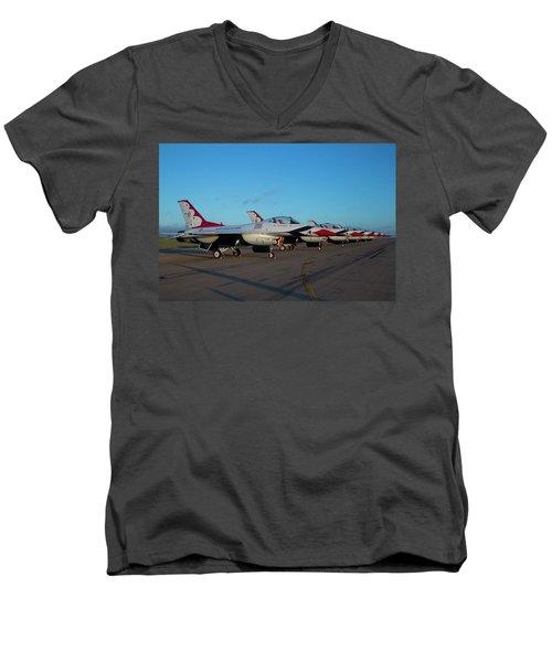 Standing In Formation Men's V-Neck T-Shirt