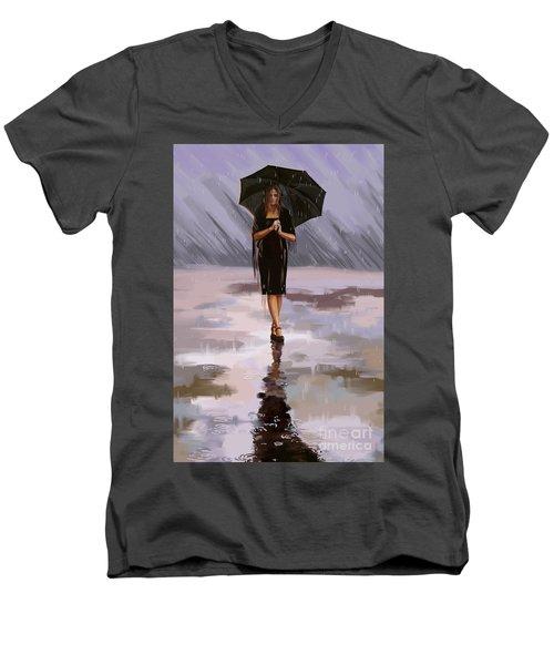 Standing-in-the-rain Men's V-Neck T-Shirt