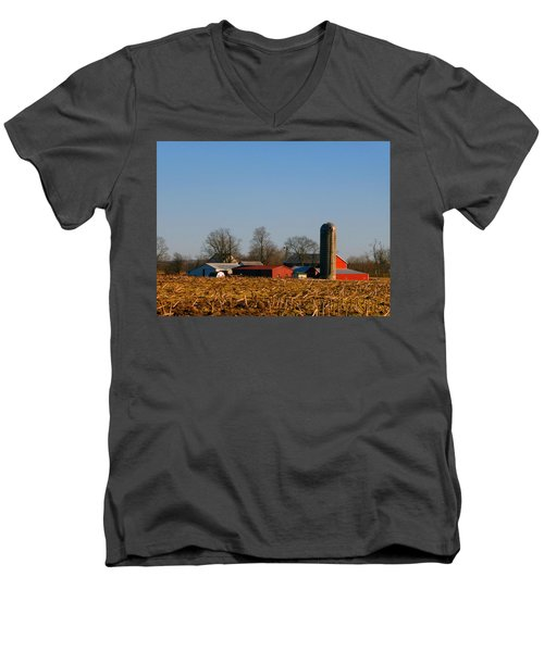 Standing Still Patiently Waiting Men's V-Neck T-Shirt by Tina M Wenger