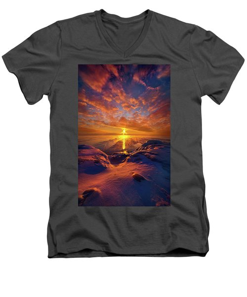 Men's V-Neck T-Shirt featuring the photograph Standing Stilled by Phil Koch