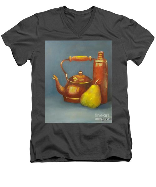 Standing Tall Men's V-Neck T-Shirt by Genevieve Brown