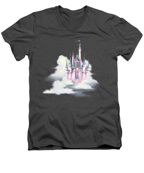 Star Castle In The Clouds Men's V-Neck T-Shirt