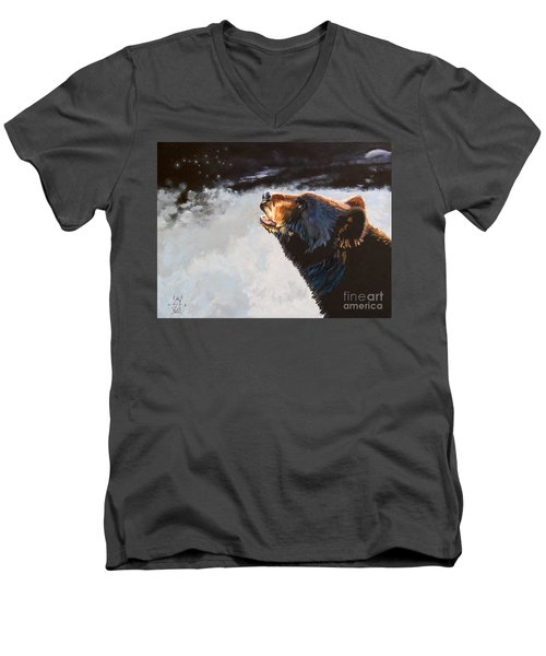 Star Gazer Men's V-Neck T-Shirt