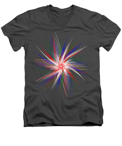 Star In Motion By Kaye Menner Men's V-Neck T-Shirt