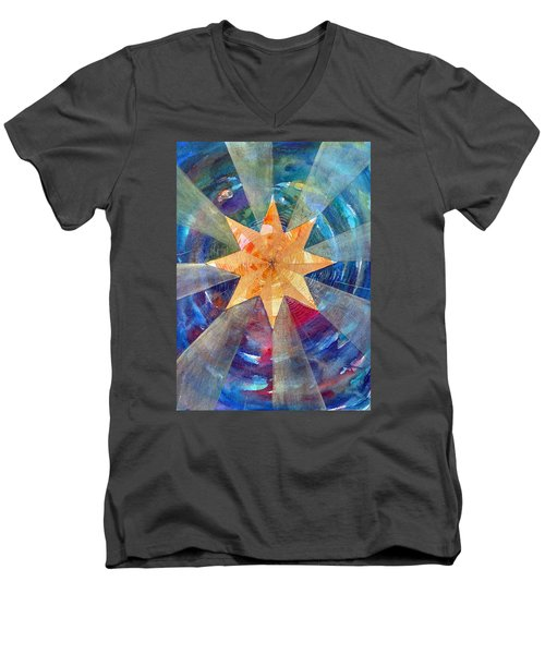 Star Mandala 1  Men's V-Neck T-Shirt