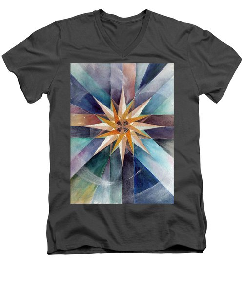 Star Mandala 2  Men's V-Neck T-Shirt