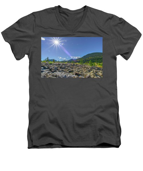 Star Over Creek Bed Rocky Mountain National Park Colorado Men's V-Neck T-Shirt