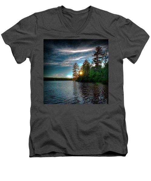 Star Sunset Men's V-Neck T-Shirt by David Patterson