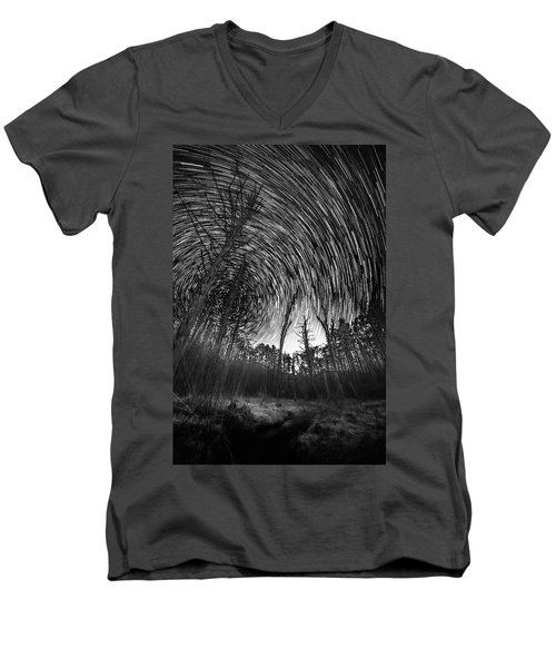 Star Trails - Blue Ridge Parkway Men's V-Neck T-Shirt