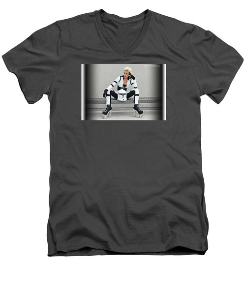 Star Wars By Knight 2000 Photography- Clone Trooper Men's V-Neck T-Shirt by Laura Michelle Corbin