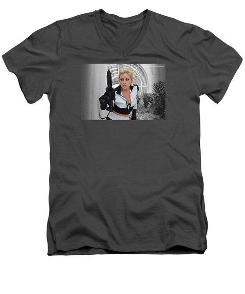 Star Wars By Knight 2000 Photography - Lookout Men's V-Neck T-Shirt by Laura Michelle Corbin