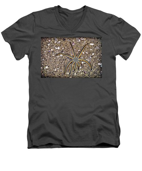 Starfish On The Beach Men's V-Neck T-Shirt