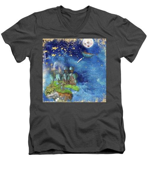 Starfishing In A Mystical Land Men's V-Neck T-Shirt