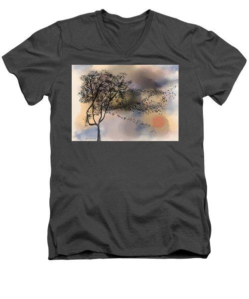 Starlings At Dusk Men's V-Neck T-Shirt