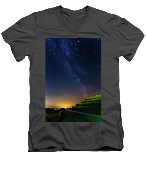 Starry Sky Above Me Men's V-Neck T-Shirt