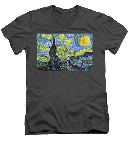 Starry, Starry Night Men's V-Neck T-Shirt