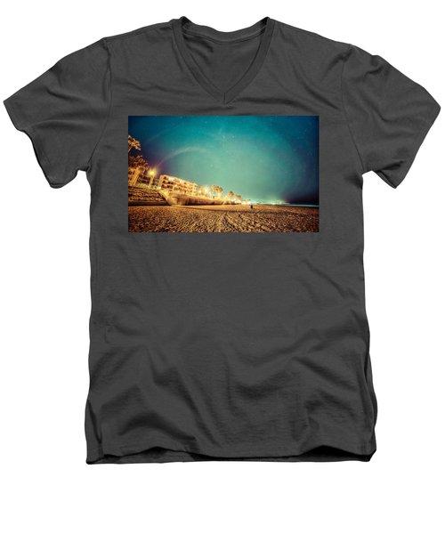 Starry Starry Pacific Beach Men's V-Neck T-Shirt