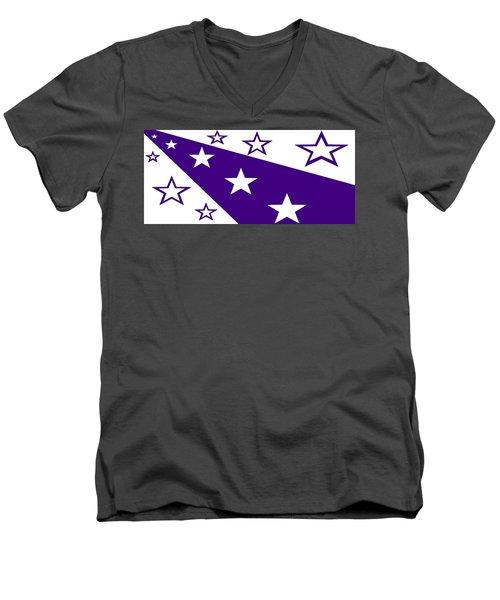 'stars 21' Or 'purple Stars' Men's V-Neck T-Shirt