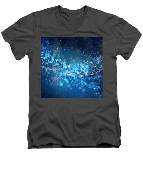 Stars And Bokeh Men's V-Neck T-Shirt