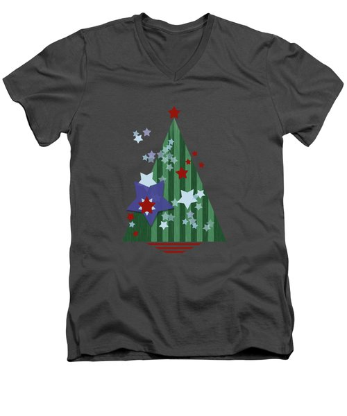 Stars And Stripes - Christmas Edition Men's V-Neck T-Shirt
