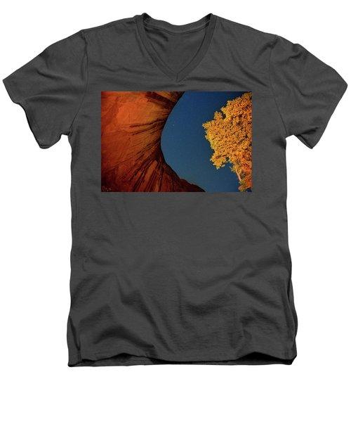 Stars Over Canyon Men's V-Neck T-Shirt
