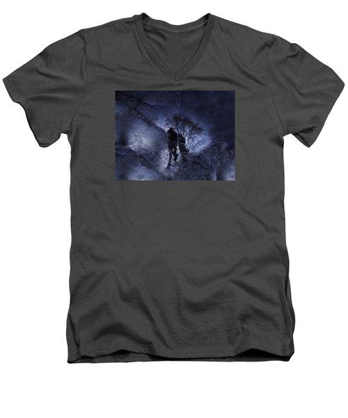 Stars Walking Men's V-Neck T-Shirt