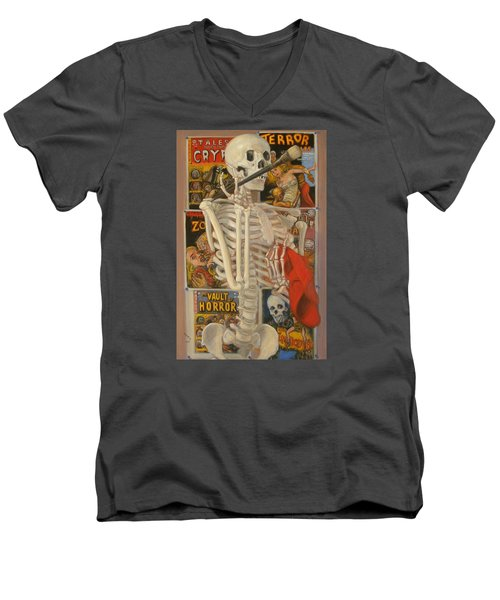 Men's V-Neck T-Shirt featuring the painting Starving Artist by Donelli  DiMaria