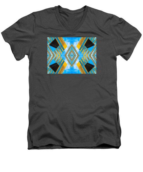 State And Grand Diamond N92 V3  Men's V-Neck T-Shirt