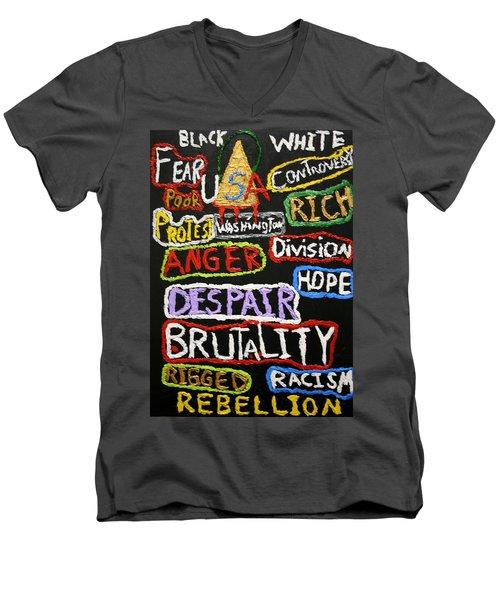 State Of America Men's V-Neck T-Shirt