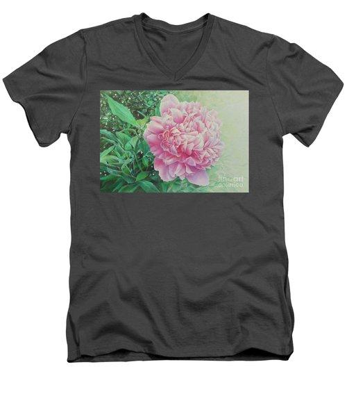 State Treasure Men's V-Neck T-Shirt by Pamela Clements