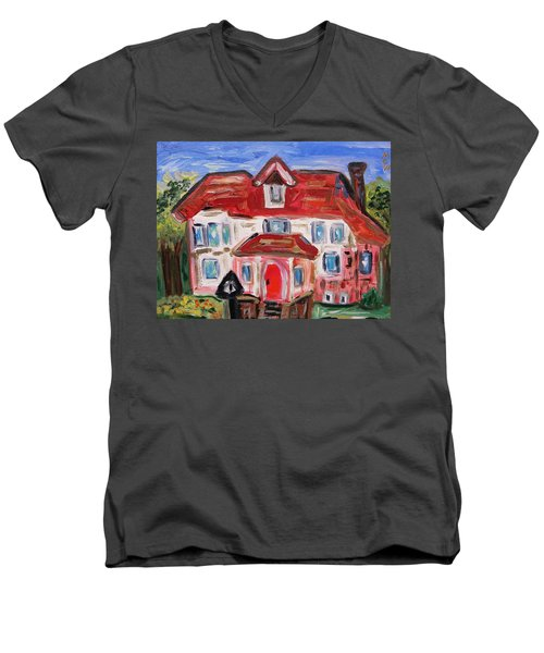 Stately City House Men's V-Neck T-Shirt by Mary Carol Williams